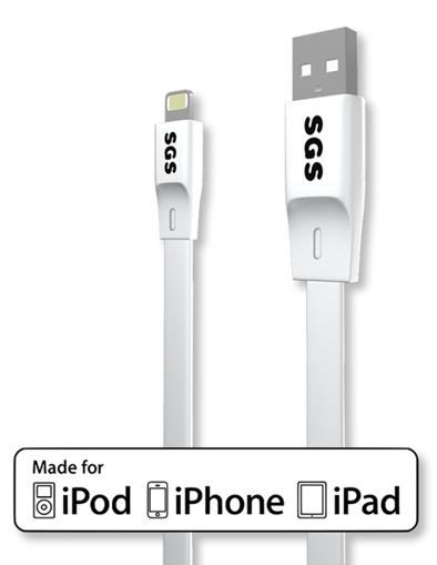 Image de CAVO USB LIGHTNING FLAT 1M SGS MFI BIANCO