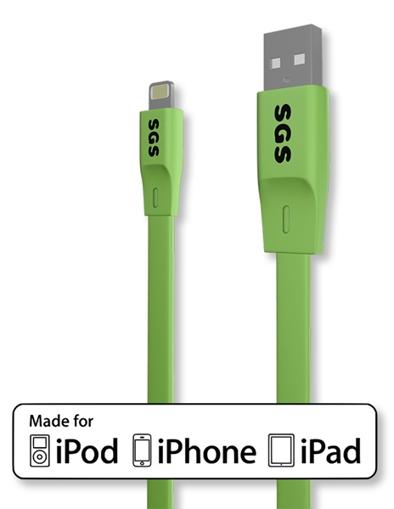Image de CAVO USB LIGHTNING FLAT 1M SGS MFI VERDE