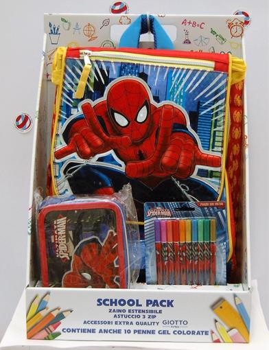Image de SCHOOL PACK SPIDERMAN ZAINO ESTENSIBILE+ASTUCCIO TRIPLO