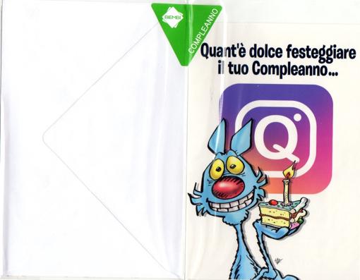 """Image de BIGLIETTO COMPLEANNO LUPO ALBERTO """"QUANTO E'' DOLCE...."""""""