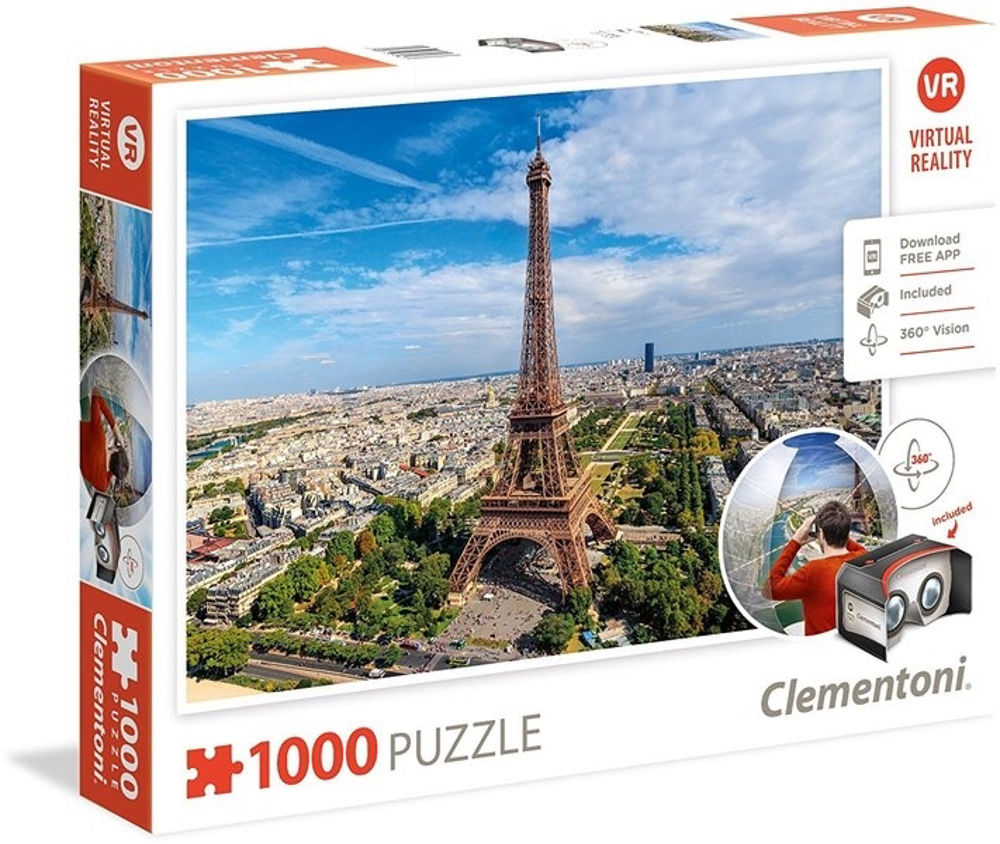 Immagine di PUZZLE CLEMENTONI VIRTUAL REALITY PARIGI 1000 PEZZI