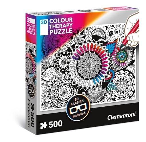 Image de PUZZLE CLEMENTONI COLOUR THERAPY 3D 500 PEZZI