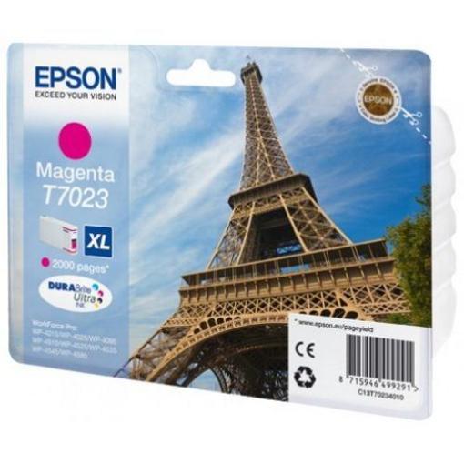 Image de CARTUCCIA EPSON T7023 MAG. XL WP-4012/4025/4095/4515/4525/45